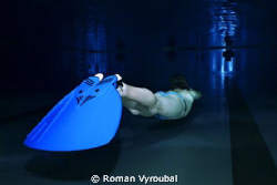 training young  with Monofin by Roman Vyroubal