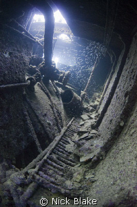 Red Sea wreck interior view by Nick Blake