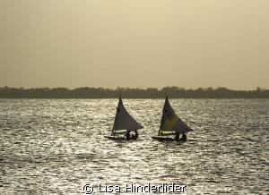 Sunset Racers. by Lisa Hinderlider