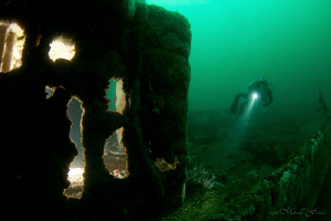 Wreck of the Ruby E., San Diego by Matthew Fischbach
