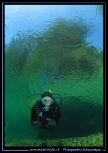 Diving the Fernsteinsee in Austria... :O)... by Michel Lonfat