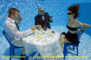 NO EXCUSES! Special poker game - realized in the pool at... by Frank Schneider