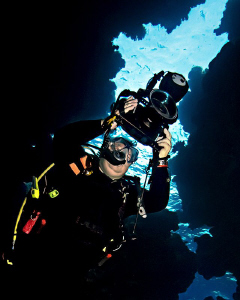 """""""The Underwater Photographer""""  At Shaab Claudio, Red Se... by Henry Jager"""