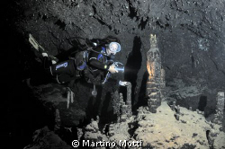 """The model was swimming inside the famous """"Cathedral Cave""""... by Martino Motti"""