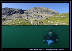 High Altitude diving with Caroline... :O)... by Michel Lonfat