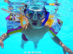 My 5 years old son who loves diving and waiting for grow ... by Alp Baranok