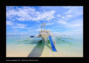 "Dive Boat or ""banga"" moored at Clangaman Island for a qui... by Henrik Gram Rasmussen"