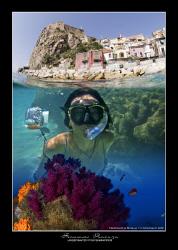 Mermaid in Scilla. Above&Below by Francesco Pacienza