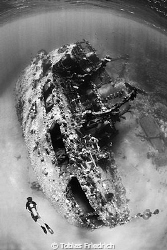 """Wreck of the """"Hamata"""" south of Marsa Alam. by Tobias Friedrich"""