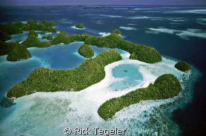 Palau from the air... by Rick Tegeler