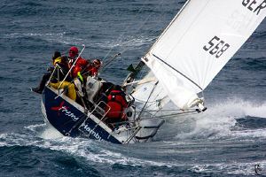 Racing Sailboat. It's not only the boat's name....the cre... by Rico Besserdich