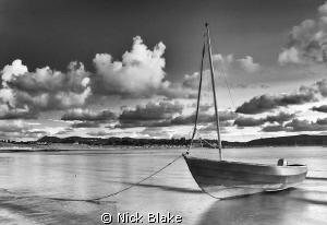 Ebbing tide at Abersoch, North Wales by Nick Blake