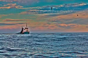 HDR taken of fishing vessel off Cape Point, same vessel I... by Allen Walker