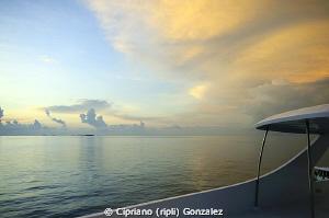 sunset aboard by Cipriano (ripli) Gonzalez