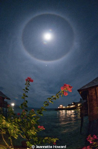 Moonbow over Mabul, Maylasia by Jeannette Howard