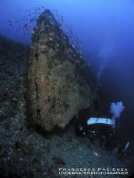 Cannitello's wrecks. The upside-down bow. by Francesco Pacienza