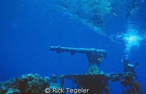 'Gunboat ' wreck... Truk Lagoon. by Rick Tegeler