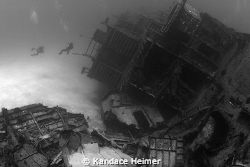 I shot this haunting photo of M/V Capt. Keith Tibbets wre... by Kandace Heimer