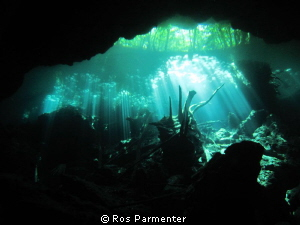 Choc Mool cenote in Playa del Carmen by Ros Parmenter