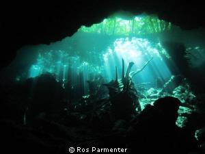Choc Mool cenote in Playa del Carmen by Ros Parmenter