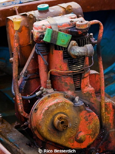A boat engine that you can trust ;-) Engine of a fishing ... by Rico Besserdich