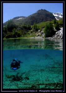 Mountain Lake diving in Switzerland... :O)... by Michel Lonfat