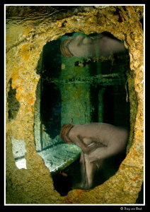 Bathing...Art (Edgar Degas) and Thistlegorm come together. by Dray Van Beeck