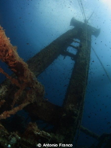 Wreck Kaptain Tevfik I  sink 2007 by Antonio Franco
