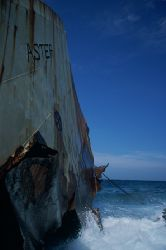 Wreck off the wildcoast , indian ocean , south africa , b... by Gregory Grant