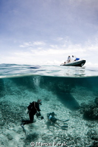 Just playing with a camera at the end of a dive :) by Martin Ferak