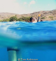 This is my friend Yutao while we were snorkeling at Elect... by Tom Robinson