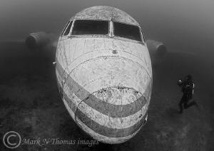 Plane.  15mm fisheye. by Mark Thomas