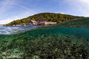 around Kri Eco resort jetty by Mona Dienhart