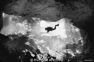 cenote Taj Mahal, Mexico. D300 aquatica housing, 10,5 mm ... by Massimo Ardizzoni