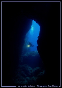 Cave diving in Gozo, Malta... :O).. by Michel Lonfat
