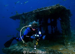 exploring the Wit Shoal Wreck Tower by Carlos Pérez