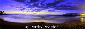 Wailea sunset panorama; Maui, Hawaii.  Panorama stitched ... by Patrick Reardon