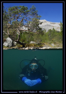 High Altitude Lake diving... :O).. by Michel Lonfat