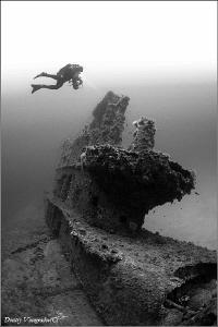 Spirit HMS Stubborn. 56 meters deep. Photo taken in 2004. by Dmitry Vinogradov