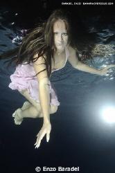 underwater, fashion, girl, tenerife, canary islands by Enzo Baradel