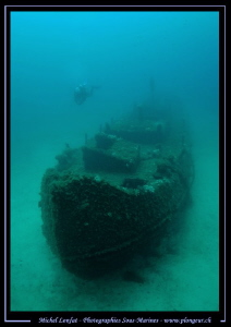 Diving the Tug Boat in Malta... :O).. by Michel Lonfat