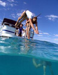 Dive on in! Ningaloo Reef, Western Australia by Penny Murphy