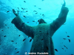 San Fruttuoso, the Christ of Abyss by Andrea Mucedola