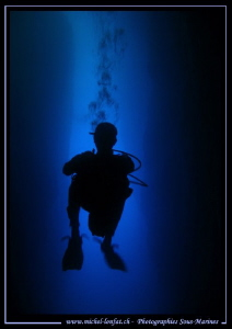Diving the inland Sea in Gozo... :O)... by Michel Lonfat