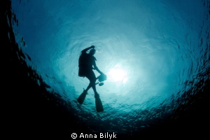 Underwater photographer by Anna Bilyk