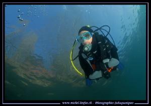 Lake diving :O)... by Michel Lonfat