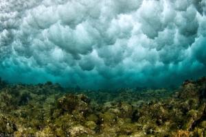 ice diving ? nope ! just under the shorebreak ! by Mathieu Foulquié