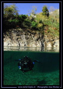 Diving the Valmaggia river... :O)... by Michel Lonfat