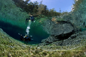 cristal clear  diving the Green Lake by Mona Dienhart