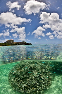 View of Hilton from Tumon Bay: Zen Mini Dome Over/Under t... by Tony Cherbas